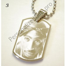 2pac ID Tag Pendant - Personalised Photo 2pac