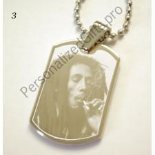 Bob Marley ID Tag Pendant - Personalised Photo Bob Marley