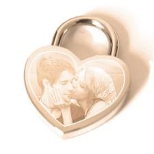 Personalised Photo Engraved Love Lock