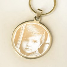 Personalised Photo Round Keyring