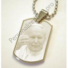 Pope John Paul II ID Tag Pendant - Personalised Photo Pope John Paul