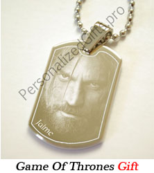 Game of thrones photo gifts game of thrones id tag pendant for Game of thrones gifts for men